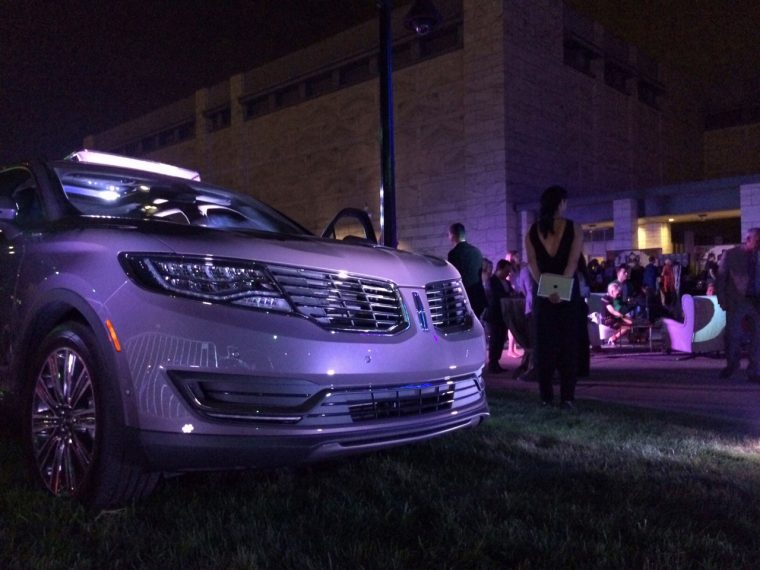 The 2016 Lincoln MKX at the 2015 Fash Bash