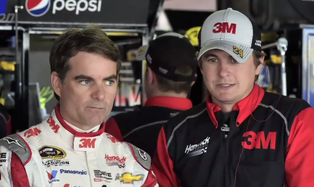 Jeff Gordon with Interior Mechanic Jordan Allen