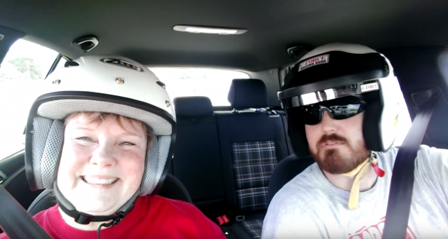 Mom Autocross racing