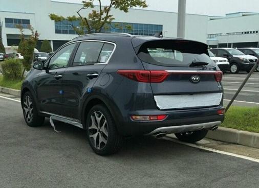 New Kia Sportage rear end
