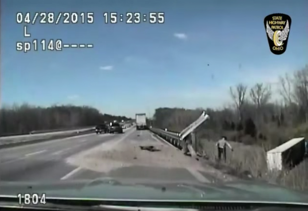 Truck Driver Saved By Ohio State Trooper