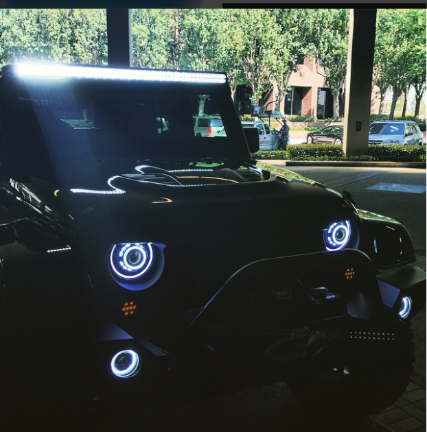 Xzibit showed his pimped out Jeep Wrangler on Instagram earlier this month   Photos: Instagram