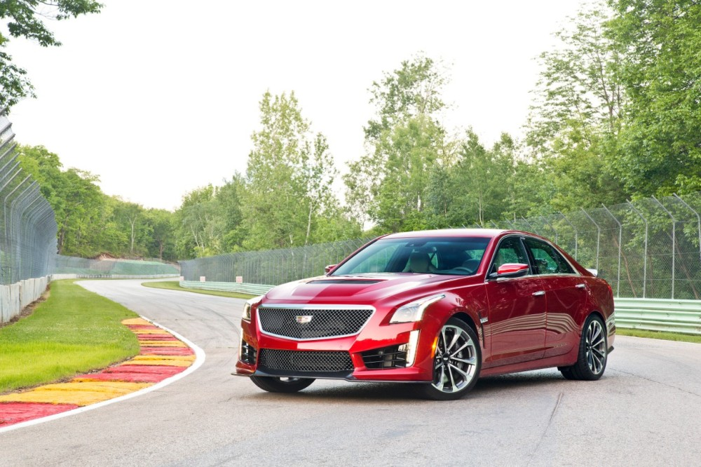 2016 Cadillac CTS-V red | The News Wheel