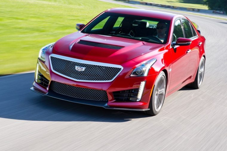 The 2016 Cadillac CTS-V features  a 6.2-liter V8 supercharged engine