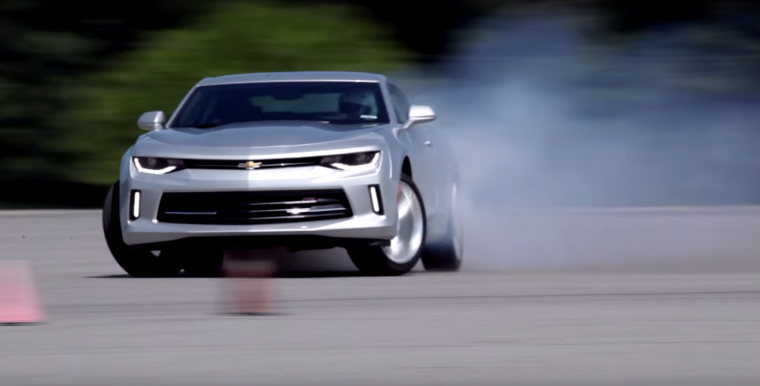 2016 Chevy Camaro drifting video