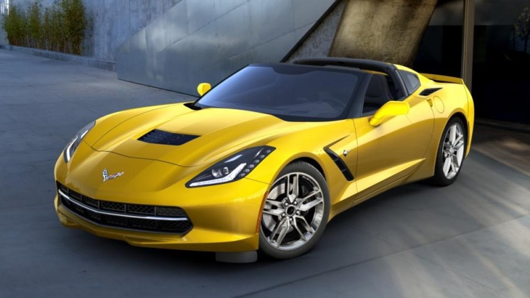 2016 Chevy Corvette Stingray in the new Corvette Racing Yellow Tintcoat