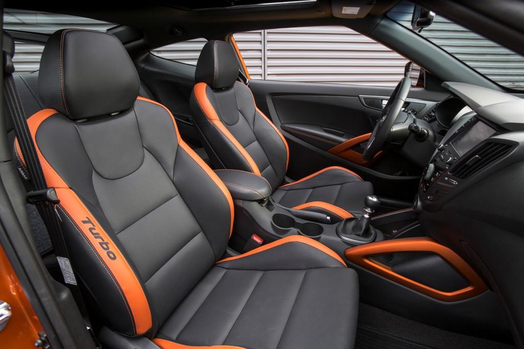 2016 Hyundai Veloster Turbo Orange Interior The News Wheel