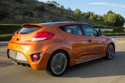2016 Hyundai Veloster Turbo Orange rear