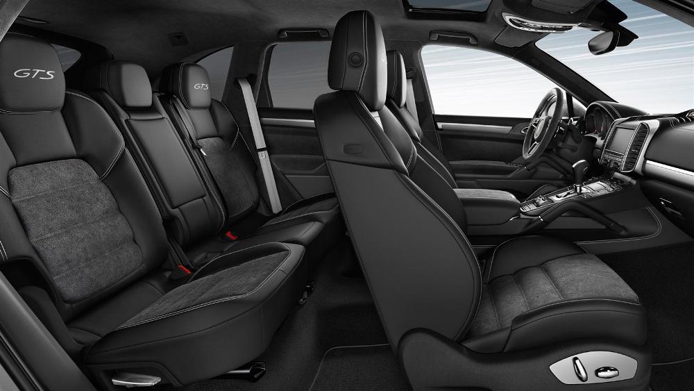 2016 porsche cayenne rear seat system with alcantara seat centers the news wheel