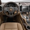 A Multifunction sport steering wheel with rim in smooth-finish leather comes with the 2016 Porsche Cayenne