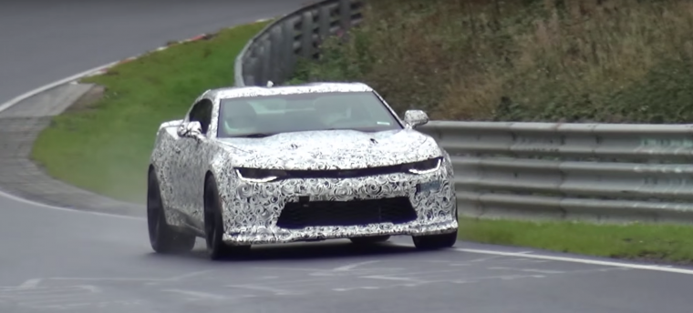 2017 Chevy Camaro 1LE at Nurburgring spy shots