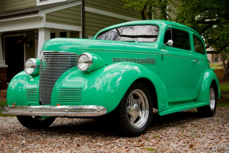 A couple from Kansas has rebuilt a '39 Chevy coupe and have driven it to car shows in all 50 states