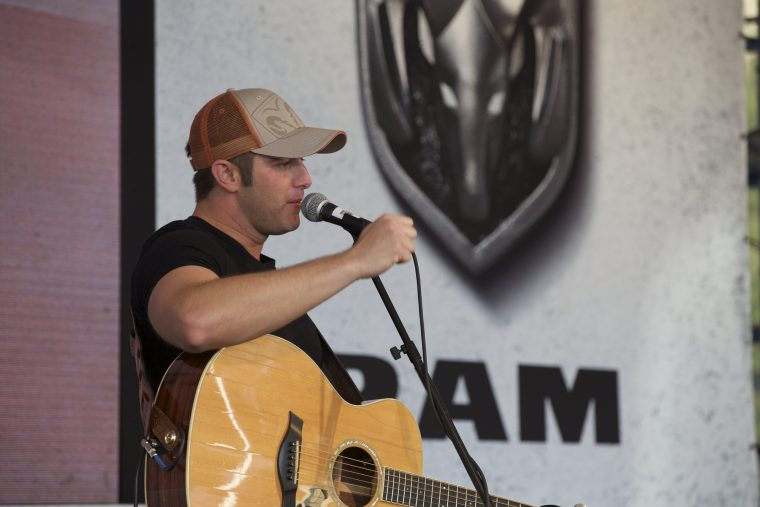 Easton Corbin performing at the State of Texas Fair