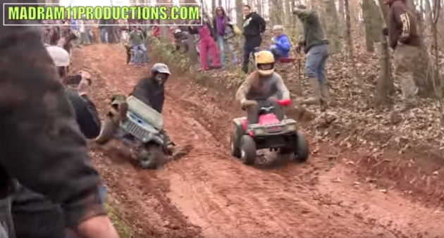 Extreme Barbie Jeep Racing ATV
