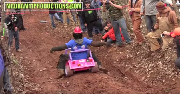 Extreme Barbie Jeep Racing Swim