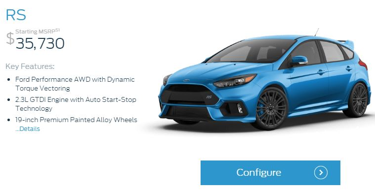 Focus RS Configurator Feature