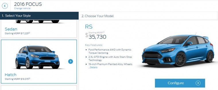 Focus RS Configurator Header
