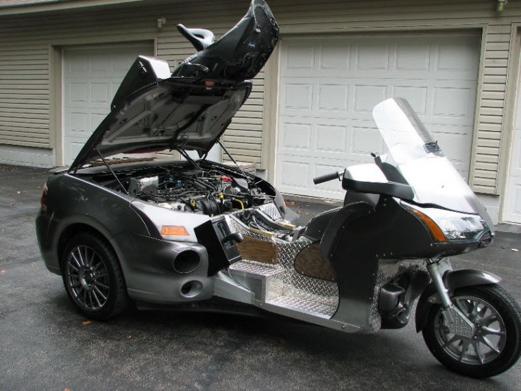 2011 Ford Focus 1986 Honda Goldwing trike