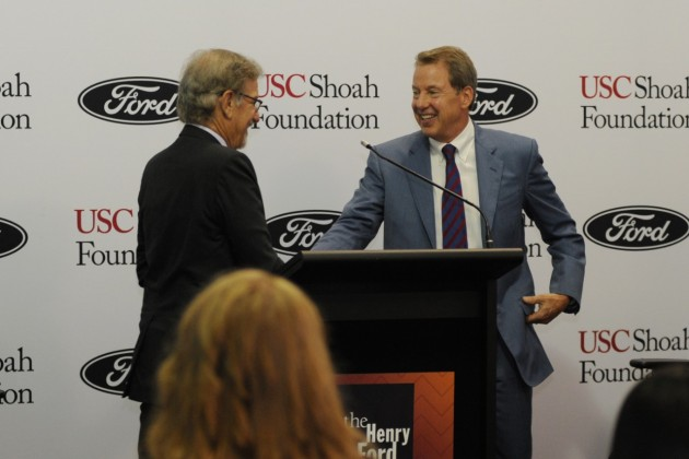 Ford MoCo Executive Chairman Bill Ford and Steven Spielberg