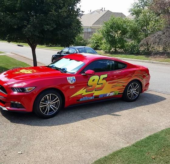 Memphis Dad Turns Mustang Into Lightning Mcqueen The