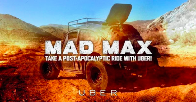 Uber offered Mad Max Uber cars in Seattle to promote the new Mad Max video game
