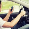 Male distracted driver on cell phone study dangerous driving