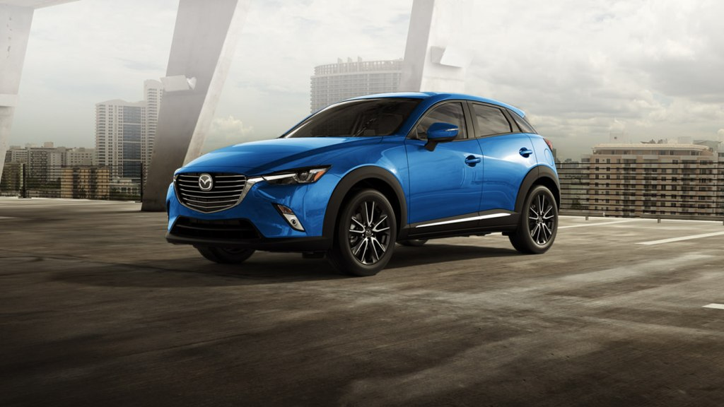 mazda cx 3 in dynamic blue the news wheel. Black Bedroom Furniture Sets. Home Design Ideas