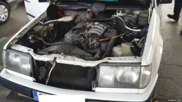 Migrant Caught Sneaking into Spain Crammed Behind Car Engine