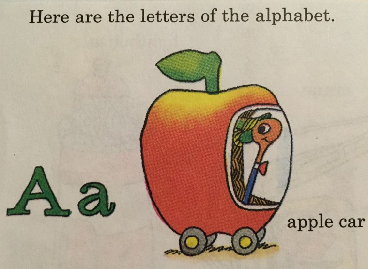 Richard Scarry Apple Car