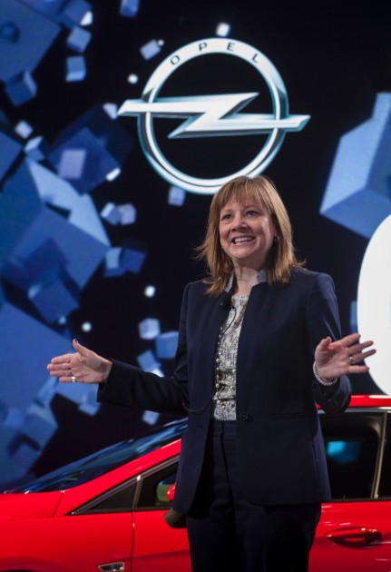 GM CEO Mary Barra at the Frankfurt Motor Show