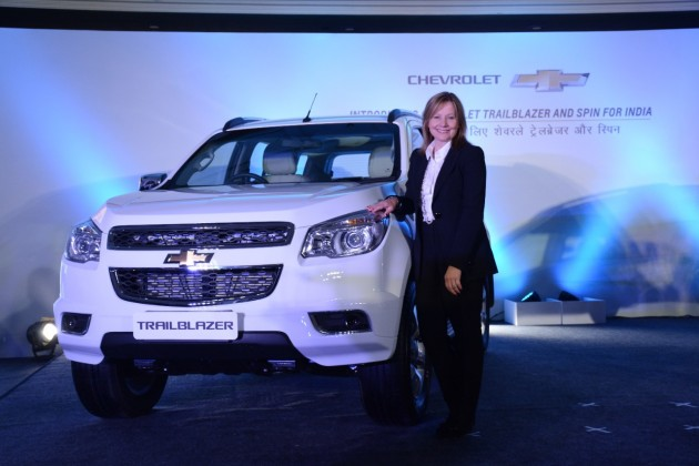 GM CEO Mary Barra unveils Chevrolet Trailblazer SUV for India