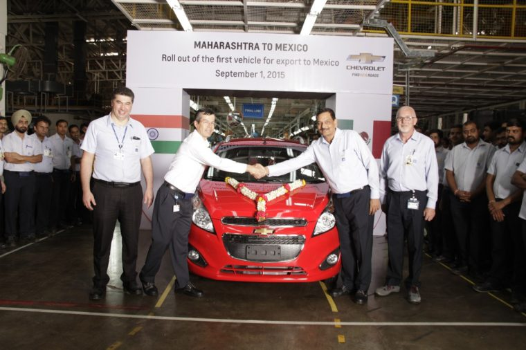 GM India begins production of the Chevrolet Beat at the Talegaon, Maharashtra plant