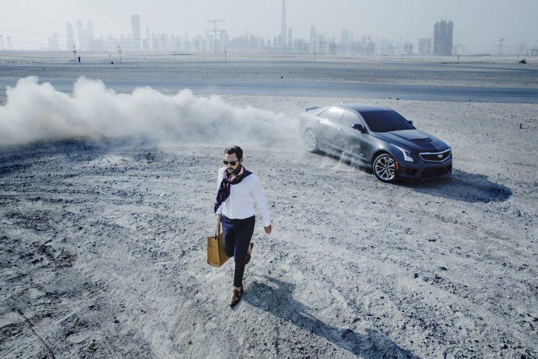 2016 Cadillac ATS-V drifting fashion shoot
