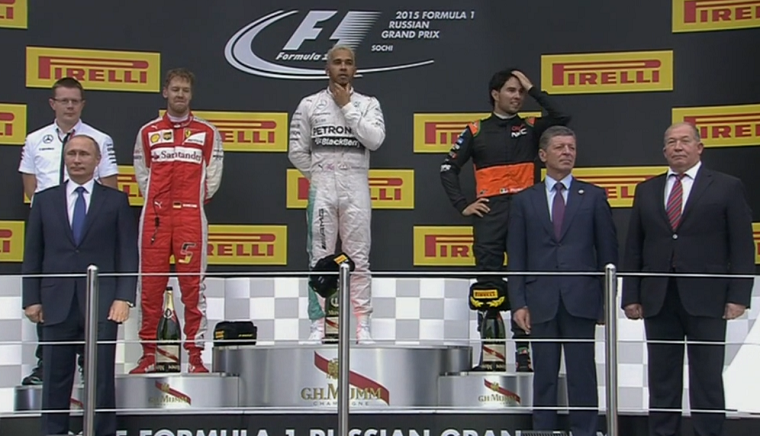 2015 Russian Grand Prix podium.