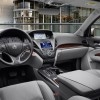 The 2016 Acura MDX features a leather-wrapped steering wheel and shift knob