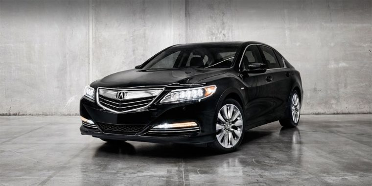 The 2016 Acura RLX features features 19-inch aluminum-alloy bright finish noise-reducing wheels
