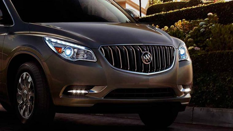 Check out the powerful grille design of the 2016 Buick Enclave