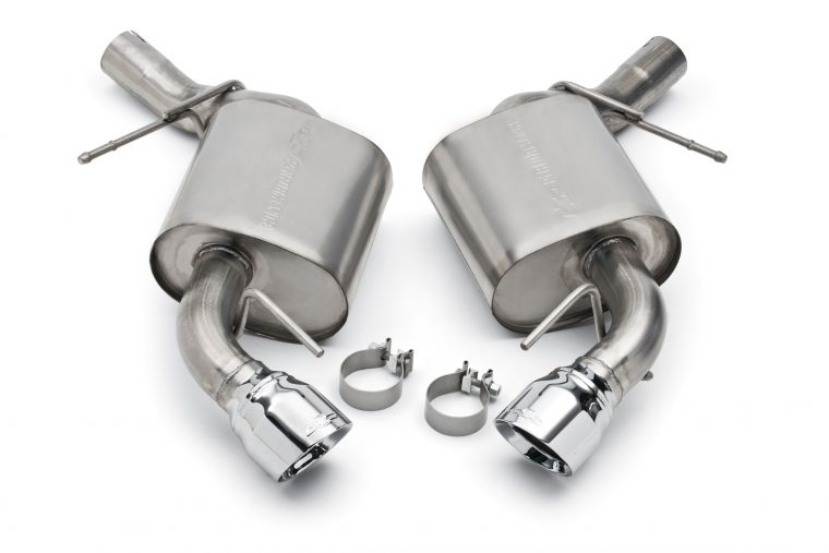 Performance exhaust kits available for some Camaro SS and LT models enhance the vehicle's performance sound
