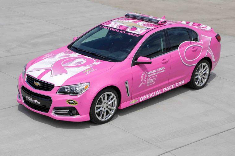 2016 Chevrolet SS pink pace car NASCAR Talladega