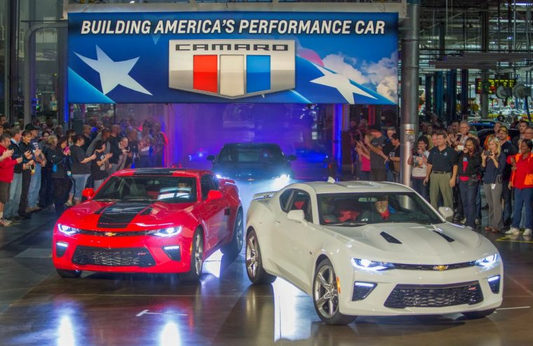2016 Chevy Camaro rolling out of GM Lansing Grand River ASsembly facility