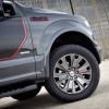 18-inch machined-aluminum wheels with silver-painted pockets are included with the 2016 Ford F-150 LARIAT