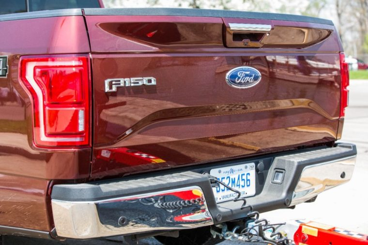 The 2016 Ford F-150 comes with a removable tailgate with key lock