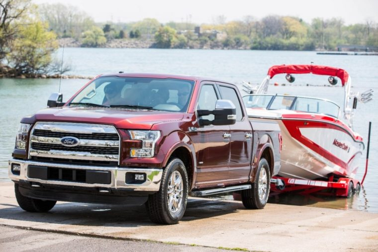 The 2016 Ford F-150 features Pro Trailer Backup Assist
