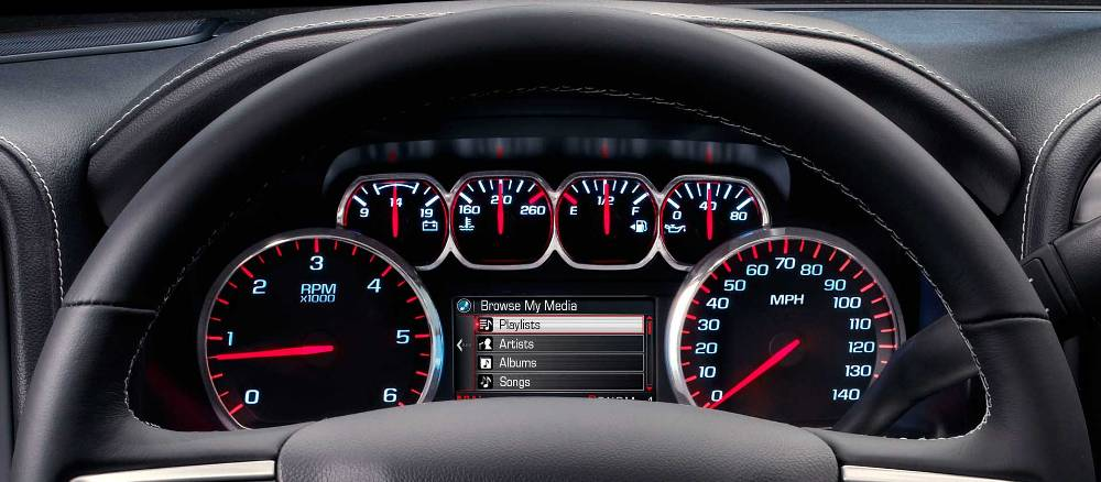 2016 Gmc Sierra 1500 Sterring Wheel And Speedometer The