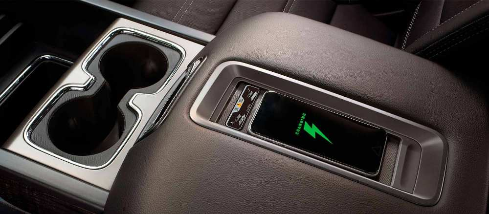 The  Gmc Sierra  Features A Wireless Charging Pad