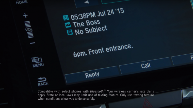 2016 Honda Accord spy commercial Bluetooth
