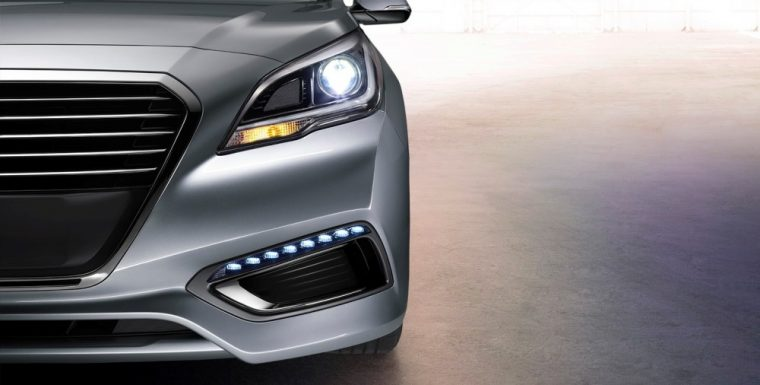The 2016 Hyundai Sonata Hybrid comes standard with LED Daytime Running Lights