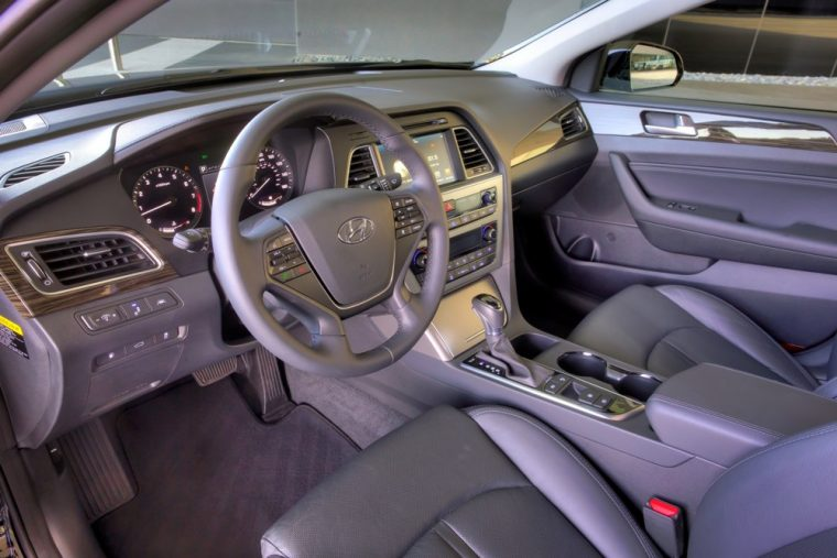 The 2016 Hyundai Sonata comes standard with premium cloth seating surfaces