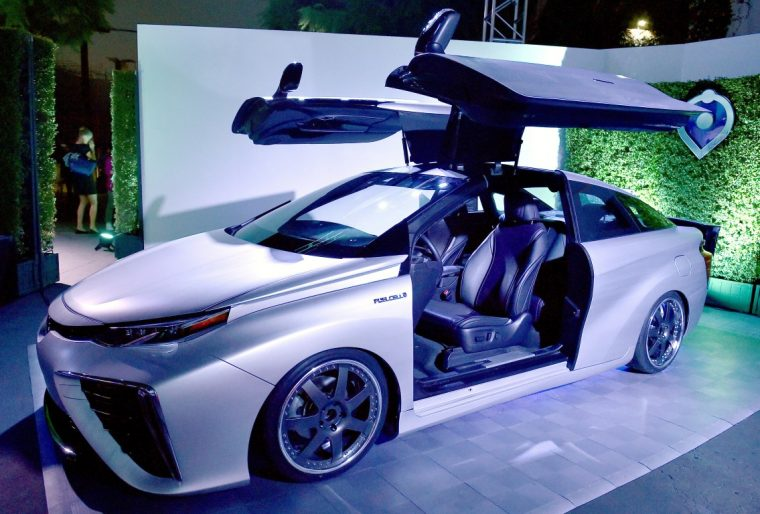 toyota mirai back to the future time machine concept delorean
