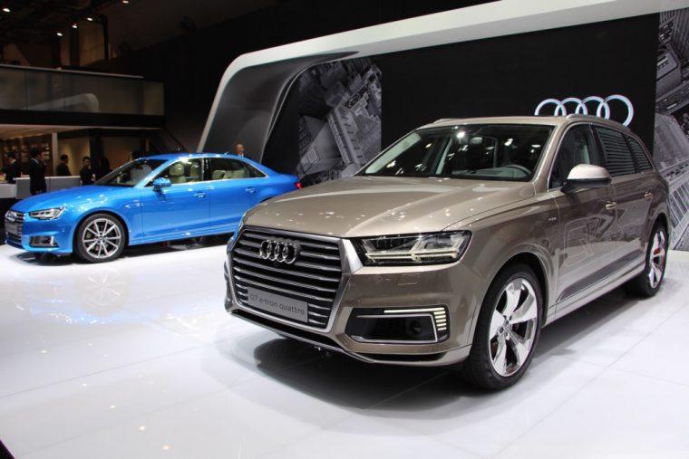 2017 Audi A4 and Audi Q7 e-tron Quattro  in Tokyo